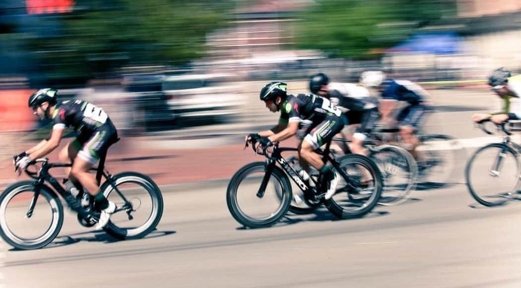 Sprint beim Radrennen